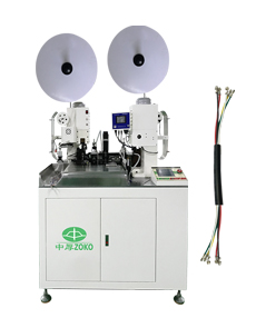Automatic Multi-conductor cable stripping and crimping machine