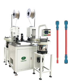 Automatic crimping and sleeves insertion machine