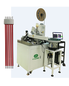 Automatic terminal crimping and connector housing inertion machine with twisting tinning