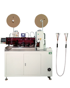 Automatic multi-core cable crimping and shrink tube insertion machine