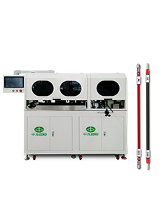 Automatic cable crimping, shrinking tube and printing machine