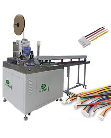 Automatic 5 wires cutting stripping tinning crimping and connector housing inertion machine